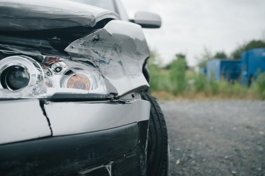 Car after car accident/crash